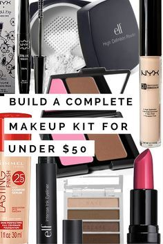 Yes, it IS possible to build a great beginner's makeup kit for less than $50! Check out the post for all the recommendations and details on each product. Plus some non essentials that won't break the bank but will help take your makeup to the next level. Plus cruelty free options for every single product!