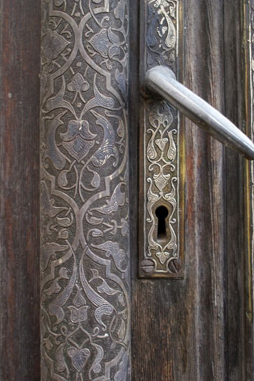 Old door at old house in old Damascus.