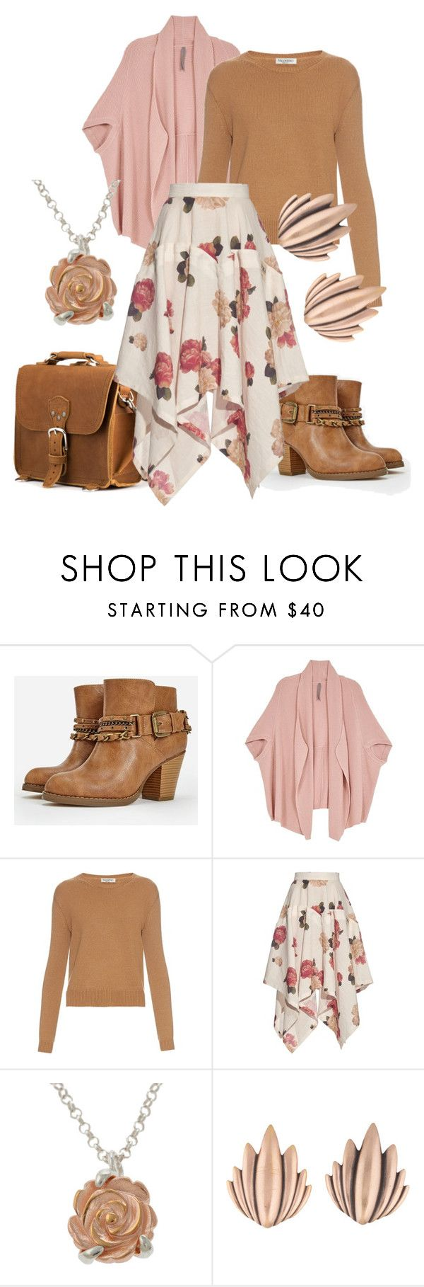 """Sprall"" by emiade ❤ liked on Polyvore featuring JustFab, Melissa McCarthy Seven7, Valentino, A.W.A.K.E., Claire Hart Design, Yves Saint Laurent and plus size clothing"