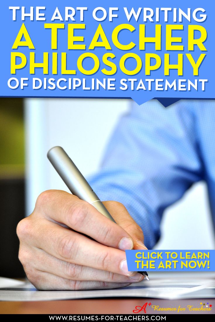 A post to learn how to write an education discipline philosophy statement. Keep in mind, when writing a teacher philosophy of discipline statement remember that it's not based only on control, but the underlying topics that coincide with it – morals, ethics, values, and personal responsibility. http://resumes-for-teachers.com/blog/philosophy-statement/writing-a-teacher-philosophy-of-discipline-statement/