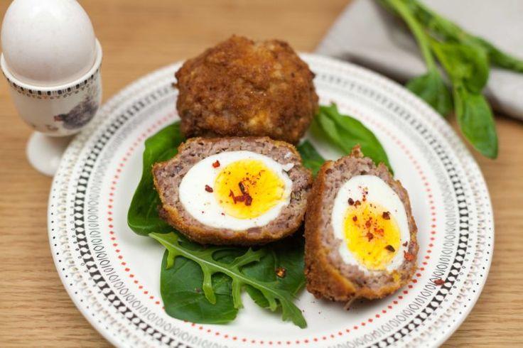 Яйца по-шотландски, ссылка на рецепт - https://recase.org/yajtsa-po-shotlandski/  #Мясо #блюдо #кухня #пища #рецепты #кулинария #еда #блюда #food #cook