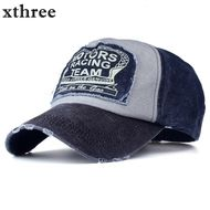 Xthree  Women's, Unisex Summer /Fall Baseball Style Cap Snapback Cotton Hip Hop Design Fitted Cap
