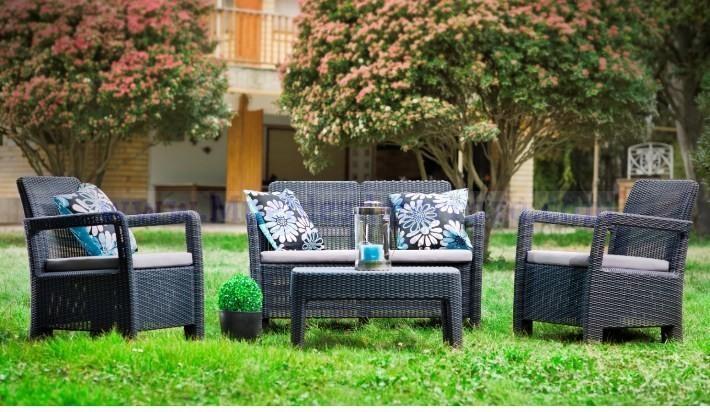 conjunto de sillones y sof s de exterior en resina a
