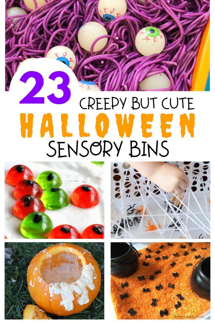 Halloween Sensory Bins #toddlerhalloween Looking for Halloween activities to do …