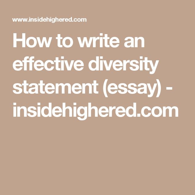 How to write an effective diversity statement (essay - diversity statement