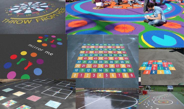 Pinta tu patio para jugar. Colección de nuevos y divertidos Juegos tradicionales para el patio del colegio