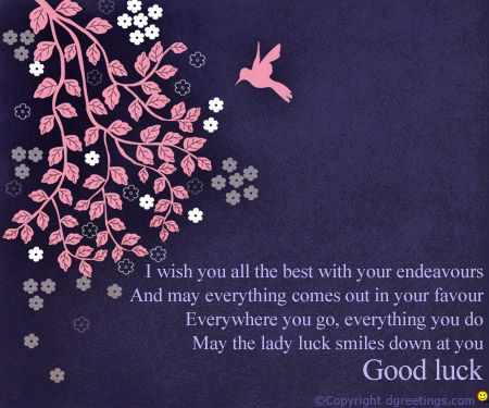 wish your friends and family Good Luck with this beautiful card.