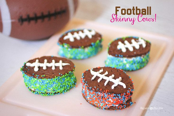 Repeat Crafter Me: Football Skinny Cow Ice Cream Sandwiches