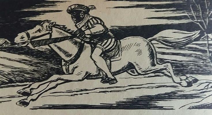 Zwarte Piet op paard