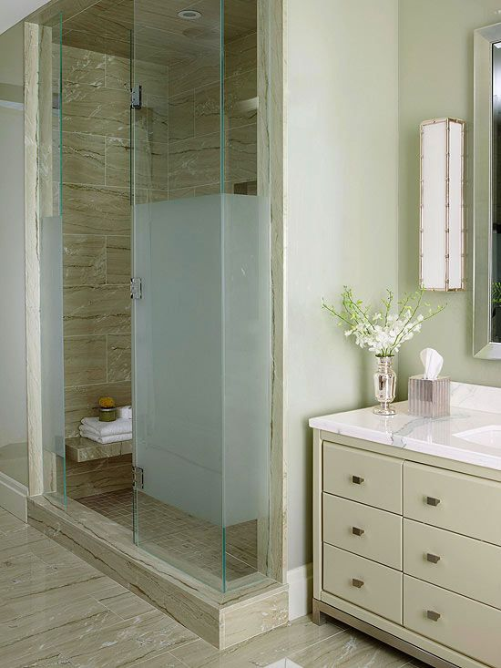 17 best images about bathroom ideas on pinterest toilets - Bathroom vanity with frosted glass doors ...