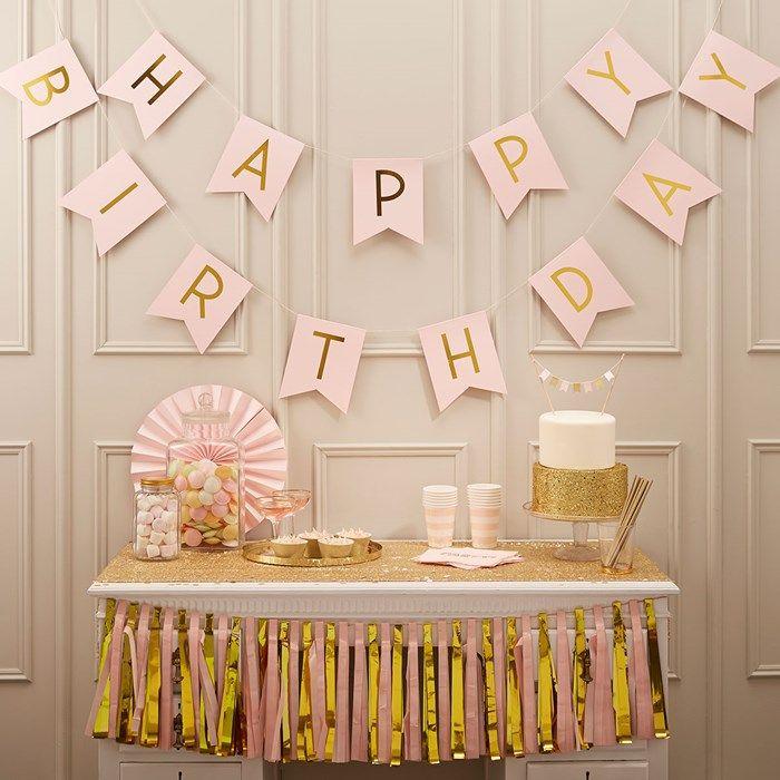 Pastel Perfection Happy Birthday Bunting | GettingPersonal.co.uk
