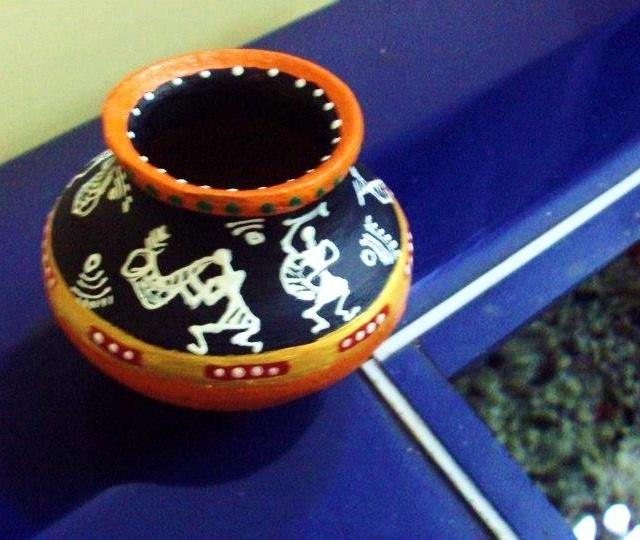 Warli art Pottery Designs