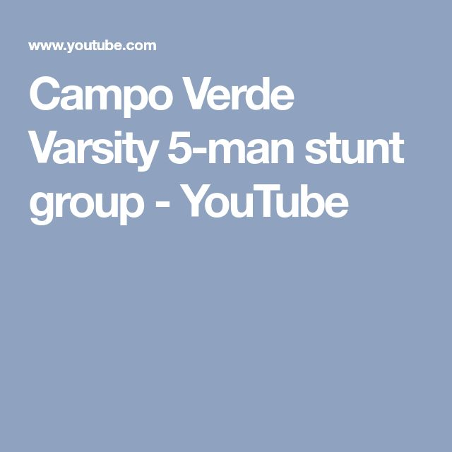 Campo Verde Varsity 5-man stunt group - YouTube