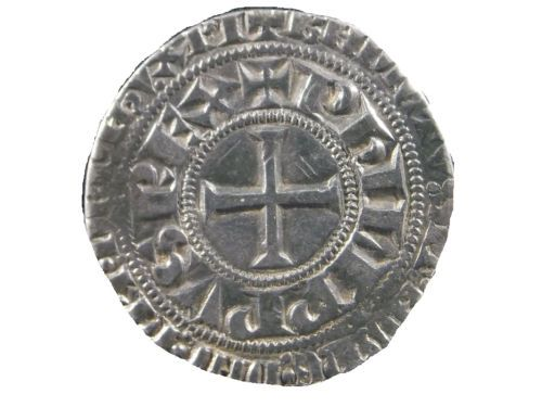 Crusader-coin-Philip-IV-of-France-Gros-Tournois-1285-1314-AD-BB9021
