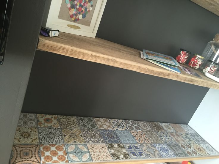 Using tiles to top the cabinet