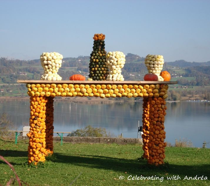 Pumpkin Exhibition at Jucker Farm in Switzerland.