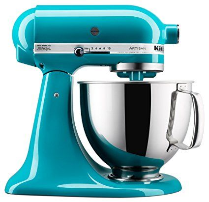 ($320) KitchenAid KSM150PSON Artisan Series Stand Mixer with Pouring Shield, 5 quart, Ocean Drive