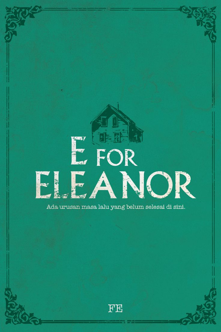 E for Eleanor by Fe.  A mystery romance story - Penerbit Pop