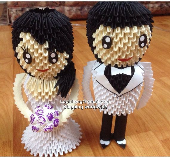 groom and bride white back wedding decoration 3d