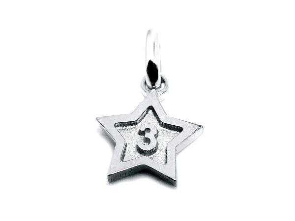 pt900 platinum number 3 pendant charms star frame ナンバー 3 数字 プラチナ スター all numbers on official online shop(0-9)