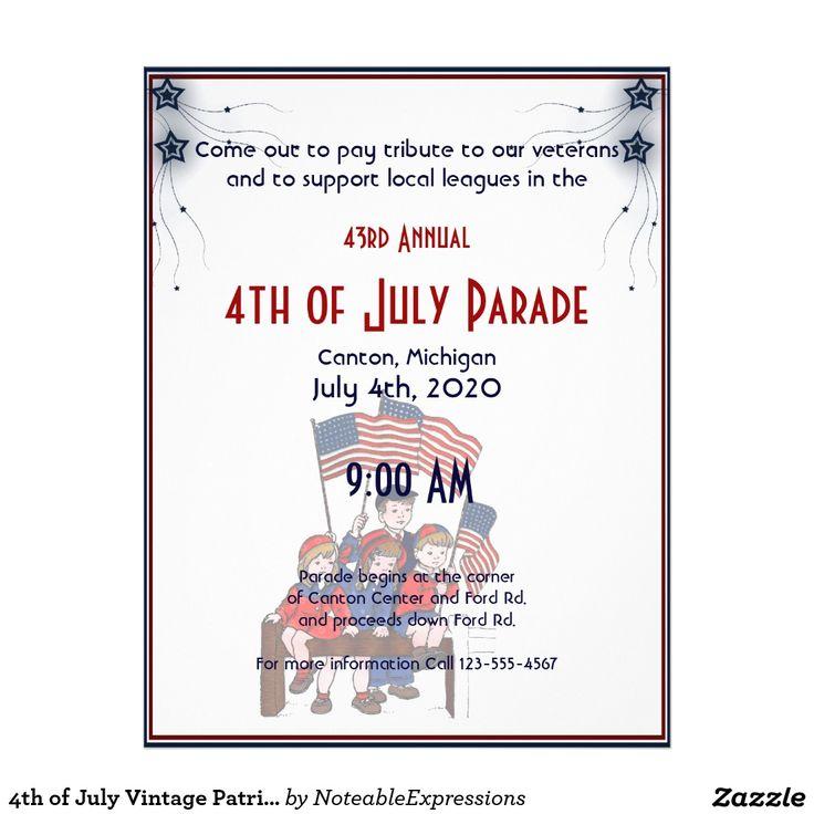 Create your own flyer patriotic kids flyer
