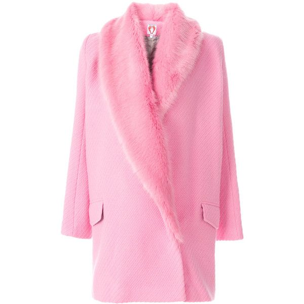 Shrimps Rory coat ($1,191) ❤ liked on Polyvore featuring outerwear, coats, pink coat and shrimps coat