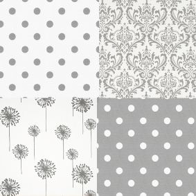 Grey and White Cotton Twill fabrics