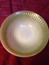 FEDERAL Glassware Soup Cereal Bowl Green Moonglow Greenbrier Iridescent USA