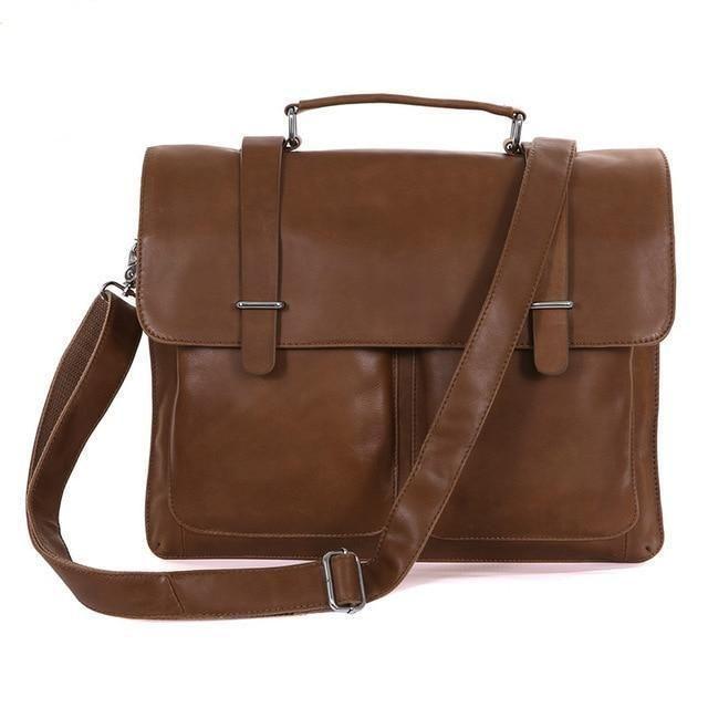 Men/'s Leather Briefcase Business Handbag Shoulder Messenger Laptop Bag Stylish