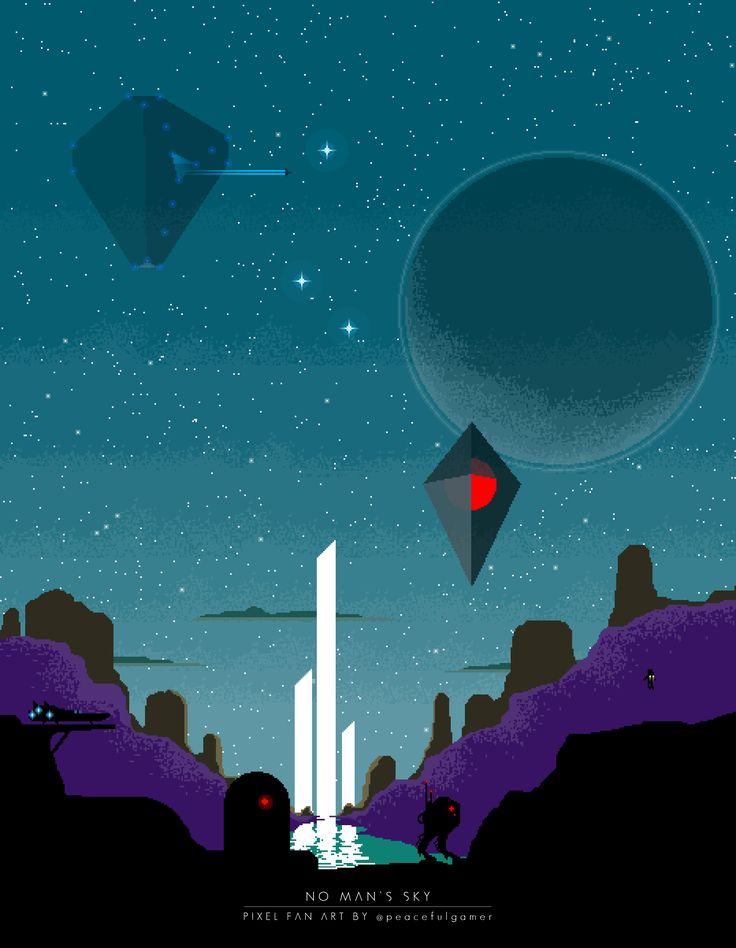 No Man's Sky Fan Art - NO MAN'S SKY Pixel Fan Art, by PeacefulGamer