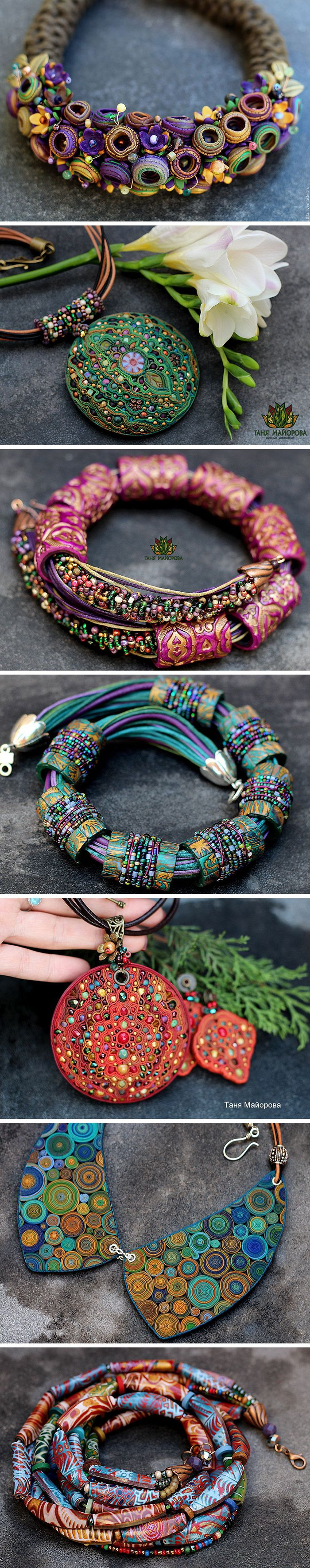 Tanya Mayorova creates magic jewelry with polymer clay