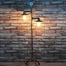US $187.30 living room bedroom bedside lamp floor lamp Vintage American iron pipe study creative decorative lamp. Aliexpress product
