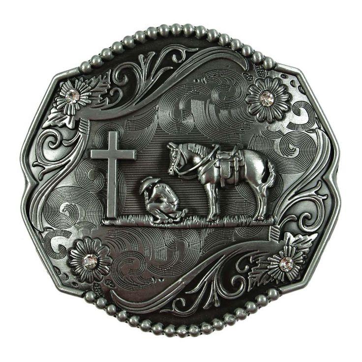 Christian Praying Cowboy Belt Buckle