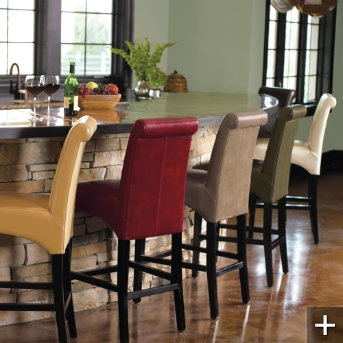 Ordered New Barstools In Different Colors To Brighten The