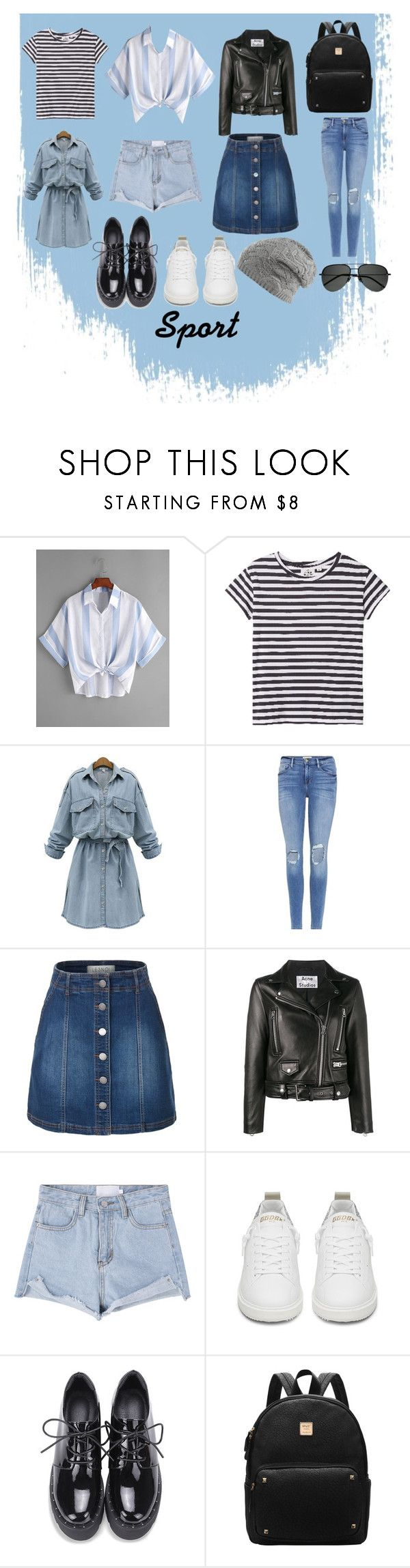 летняя капсула by darina-kallina on Polyvore featuring мода, WithChic, Cheap Monday, Acne Studios, LE3NO, Frame, Golden Goose and Yves Saint Laurent
