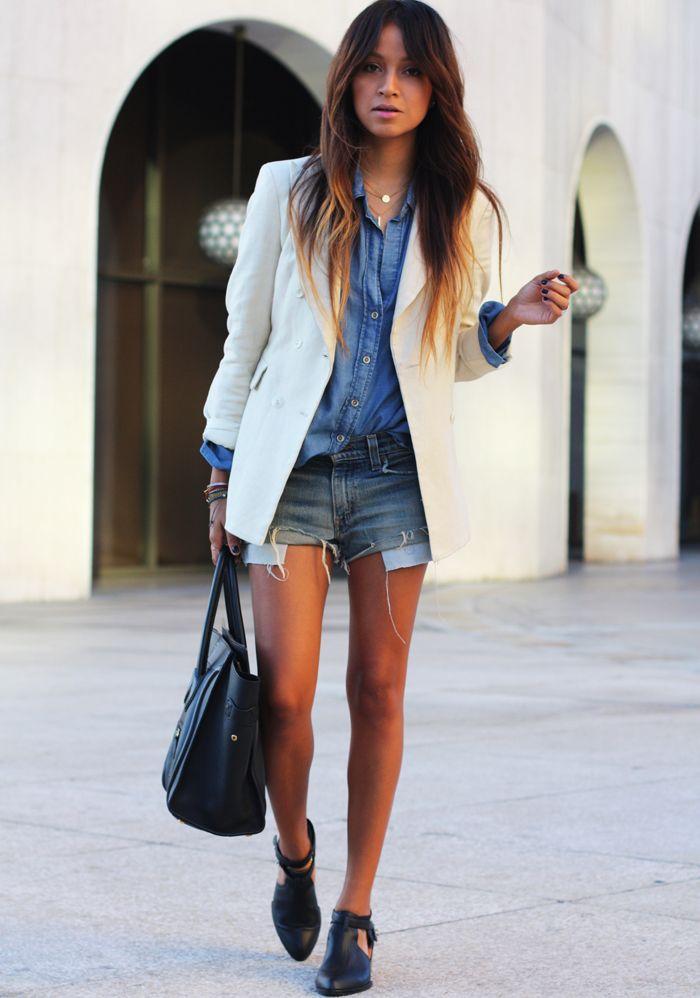 jeans + jeans e blazer