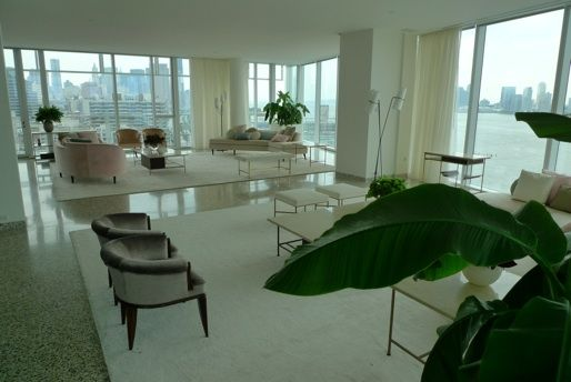 Alexis Stewart's apartment - with a view like that, you don't need fussy decor
