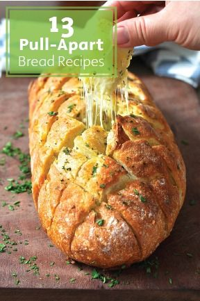 Who can resist a piping hot and fresh-out-of-the-oven pull-apart bread loaf? With gooey, delicious, and savory stuffings—like cheese, pizza toppings, cinnamon caramel, apples, and more—the answer is no one! These 13 family-friendly recipes make irresistible snacks, party appetizers, tailgate finger foods, or dinner sides.