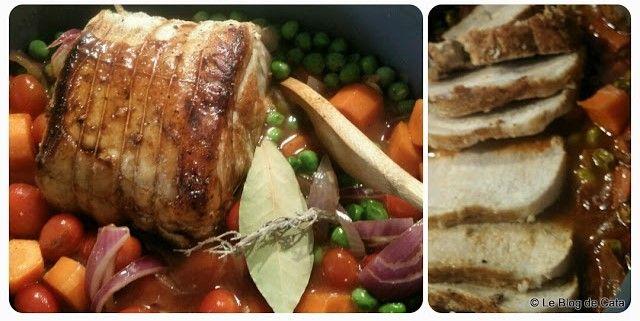 Le blog de Cata: Rôti de porc aux legumes et vinaigre balsamique