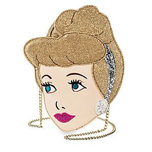 Cinderella Crossbody Bag by Danielle Nicole | Disney Store Who needs glass slippers when you carry this glittering gold Cinderella Crossbody Bag. Designed as the Disney Princess' pretty face, this charming bag will make you sparkle passed the last stroke of midnight.
