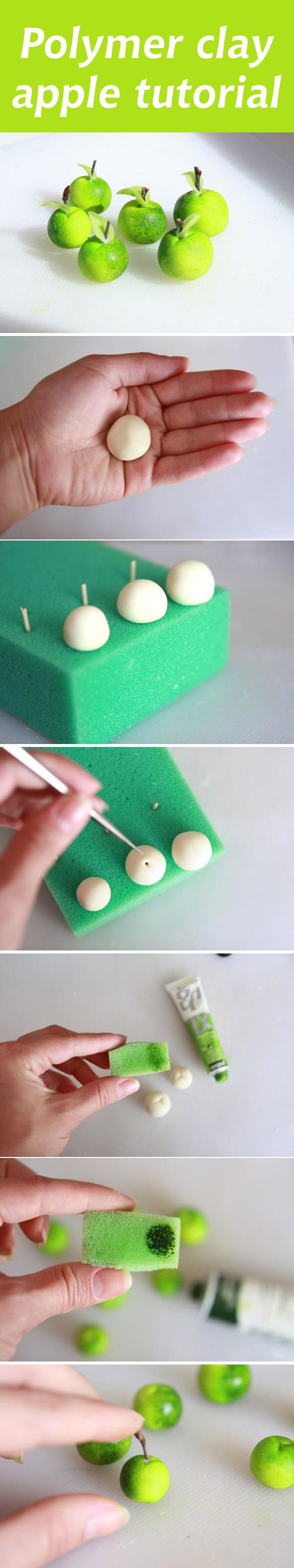 Polymer clay apple tutorial