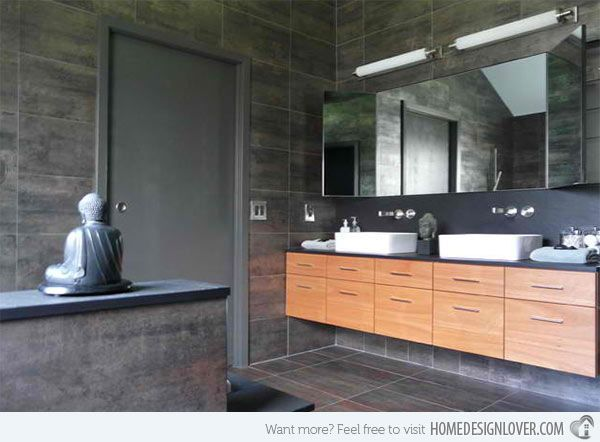 15 Bathroom Designs with Flat-Panel Cabinets | Home Design Lover