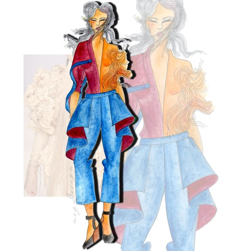 Jasa Desain Freelance: Fashion Sketch / Raw Fashion Design / Fashion Idea / Avant