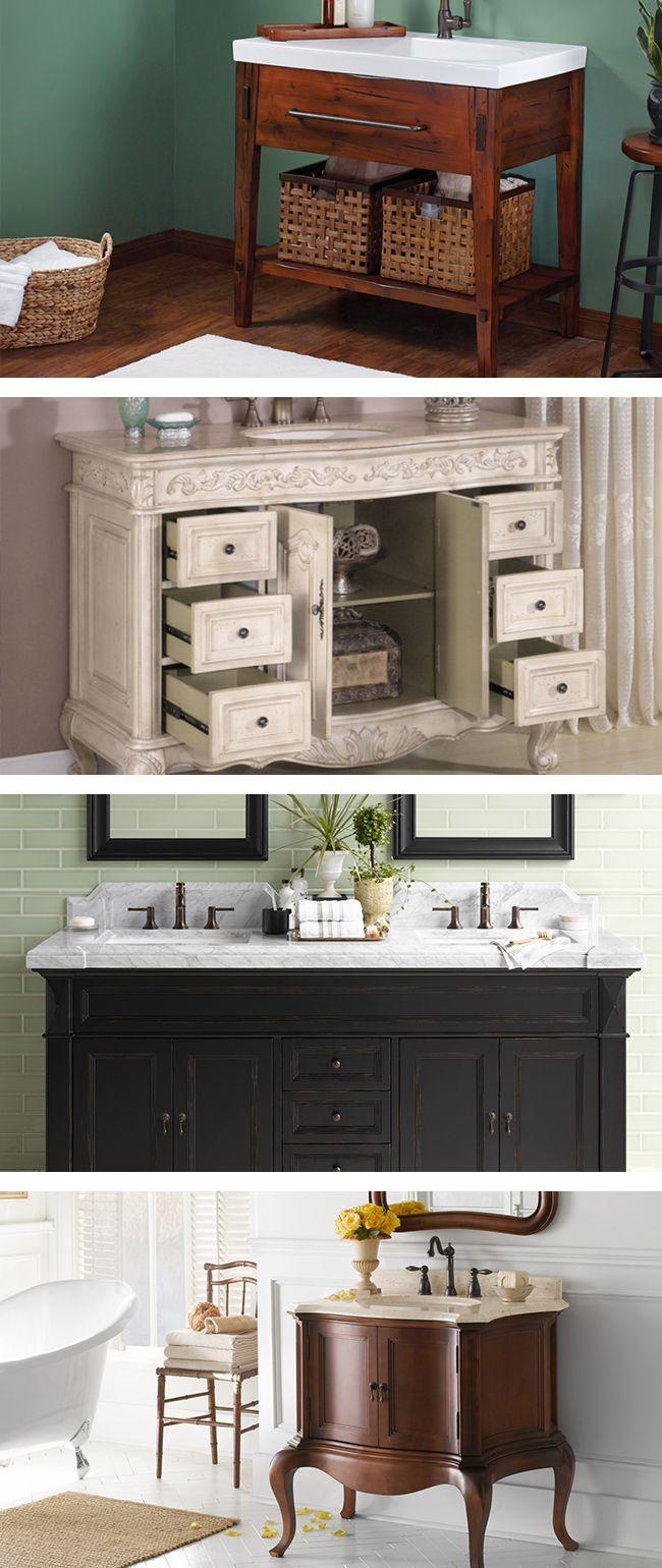 If you're looking for a new clean look, start with your bathroom vanity. Quick tip: you want to make sure the color and texture of the bathroom vanity coordinates with your flooring and bathroom fixtures. Visit Wayfair and sign up today to get access to exclusive deals everyday up to 70% off. Free shipping on all orders over $49.