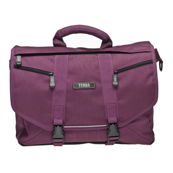 £69.95 TENBA Messenger Shoulder Bag (Plum) - Large. The essence of urban – a sleek, lightweight, street-smart satchel that holds a ton, yet hugs your body, moves with you, and doesn't cramp your style. A removable photo insert allows you to convert it quickly from a camera bag to a general-purpose gym bag, book bag, school bag or briefcase.
