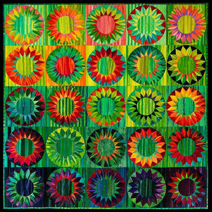 quilt by quilts williams pin art sunflower pinterest eileen sunflowers