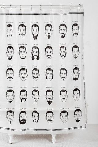 Mustache Shower Curtain | Curtains, We and Shower curtains