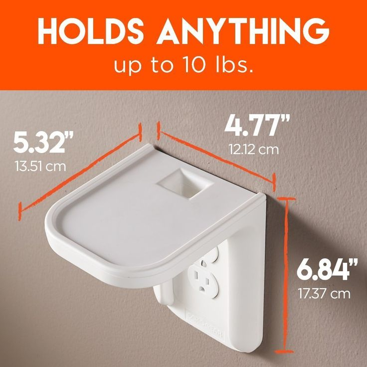 ECHOGEAR Outlet Shelf - A Space-Saving Solution For Anything Up to 10lbs - Built-In Cable Channel - Easy Install With Hardware Included - Ideal For Sonos and Smart Home Speakers - - http://amzn.to/2ur7Sj3
