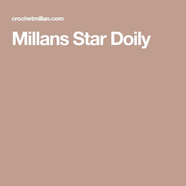 Millans Star Doily