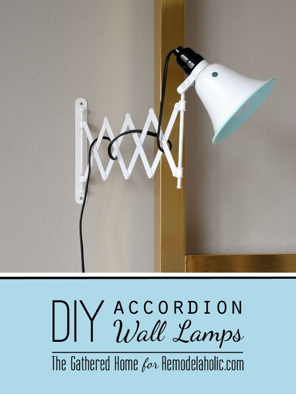 DIY Accordion Wall Lamps from $5 Ikea Mirrors